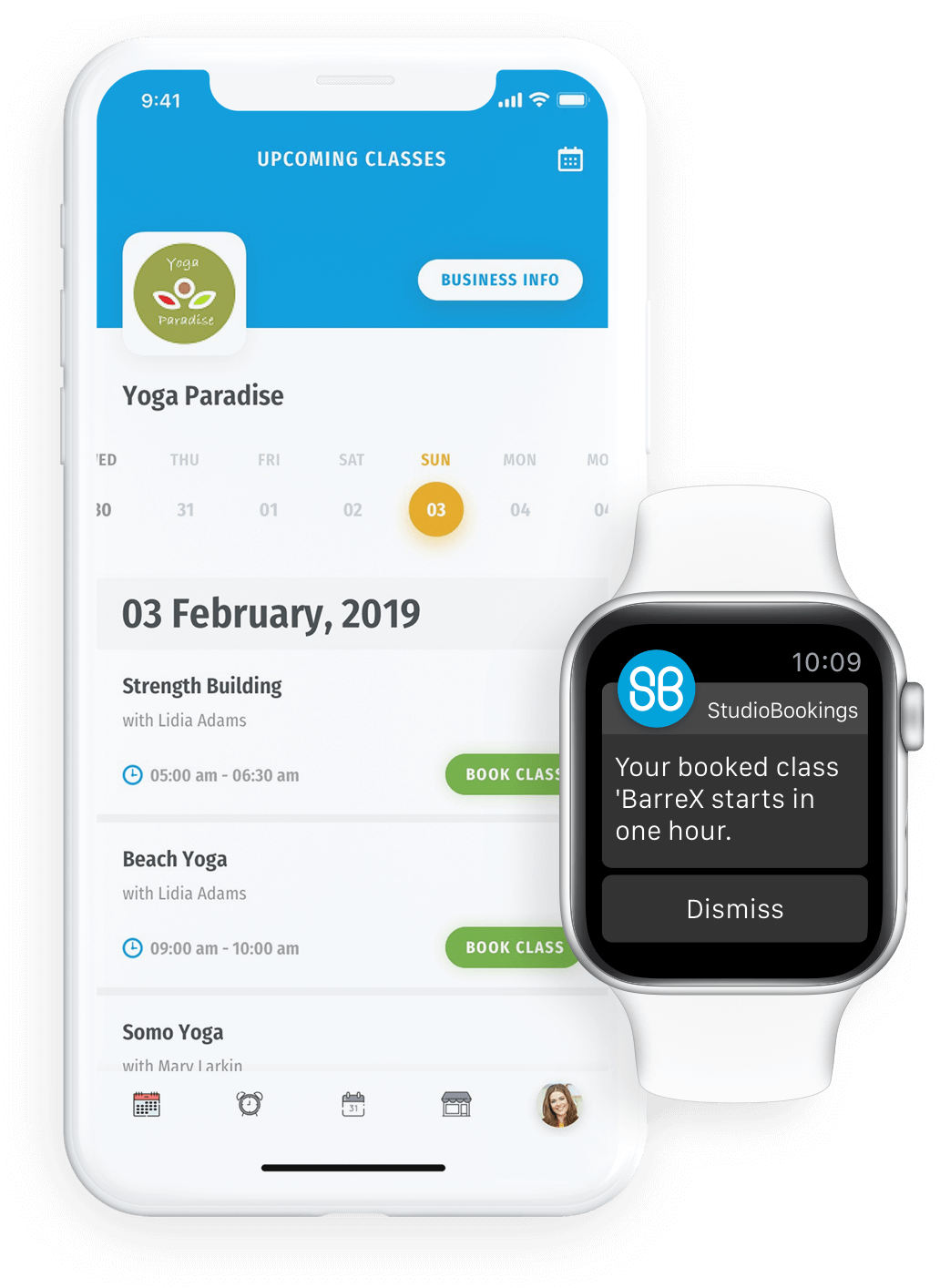Our App for your studio supports Apple Watch